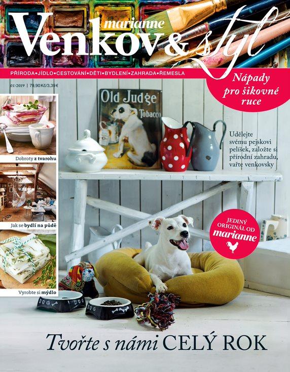 titulní strana časopisu Marianne Venkov   styl a jeho předplatné 148d381836