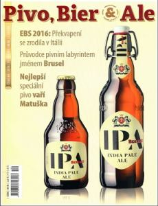 obálka časopisu Pivo, Bier & Ale