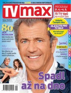 obálka časopisu TV Max