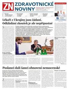 obálka časopisu Zdravotnické noviny pro nelékaře (A 11)