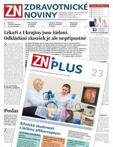 obálka časopisu Zdravotnické noviny pro lékaře (A 11)
