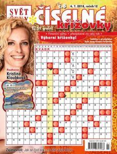 obálka časopisu Svět ženy číselné křížovky