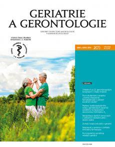 obálka časopisu Geriatrie a Gerontologie