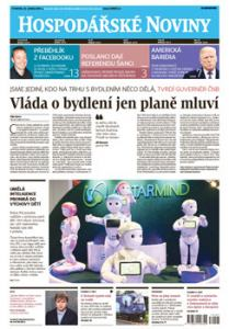 obálka časopisu Hospodářské noviny