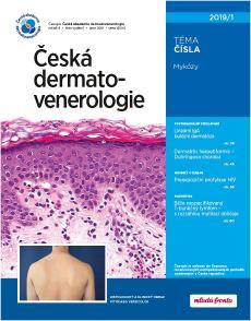 obálka časopisu Česká Dermatovenerologie