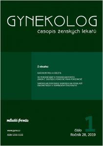obálka časopisu Gynekolog