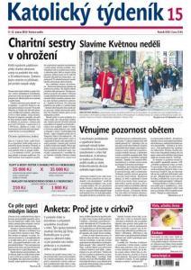 obálka časopisu Katolický týdeník