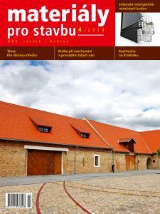 obálka časopisu Materiály pro stavbu