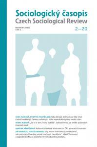 obálka časopisu Sociologický časopis