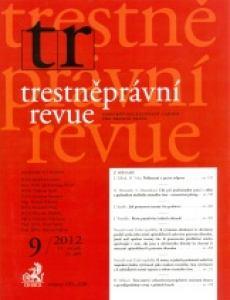 obálka časopisu Trestněprávní revue