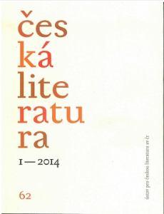 obálka časopisu Česká literatura