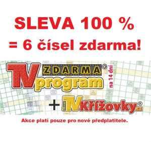 SLEVA 100 % - nic neplatíte - dárek k pøedplatnému èasopisu TV program TVkøí¾ovky.cz