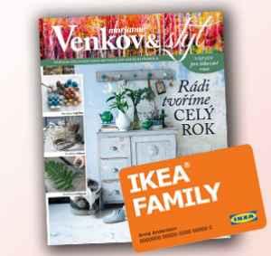 Roční předplatné IKEA - dárek k předplatnému časopisu Marianne Venkov & styl