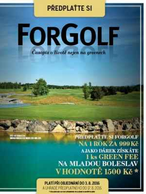 Green Fee - d�rek k p�edplatn�mu �asopisu ForGolf