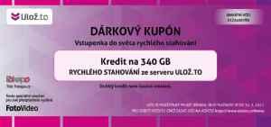 Kupón Uloz.to - dárek k předplatnému časopisu Foto Video