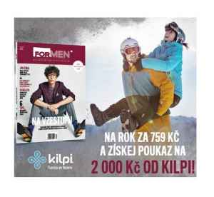 FM 0217 Voucher Kilpi - dárek k pøedplatnému èasopisu ForMen