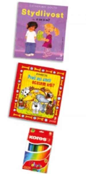 DRA 1702E Dvì knihy + pastelky - dárek k pøedplatnému èasopisu DRÁÈEK