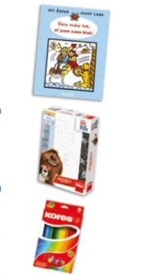 DRA 1702F Kniha+hra+pastelky - dárek k pøedplatnému èasopisu DRÁÈEK
