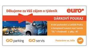 EURO 1717 Voucher parkování - dárek k předplatnému časopisu Euro