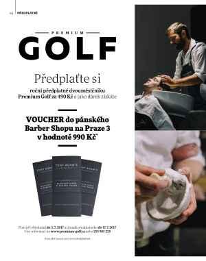 Voucher do Barber Shopu - dárek k předplatnému časopisu Premium Golf