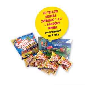 CD Zvěřinec 1+2+bonbony NIMM2 - dárek k předplatnému časopisu Pastelka