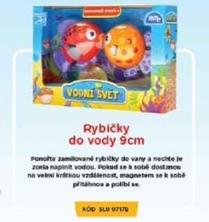 SLU 07 17B Rybičky do vody - dárek k předplatnému časopisu Sluníčko+ DVD