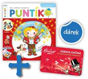 Karta Hamleys - dárek k předplatnému časopisu Puntík
