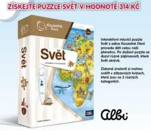 SLU-1117 Puzzle Svět od Albi - dárek k předplatnému časopisu Sluníčko+ DVD