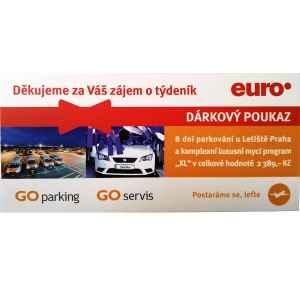Parkování u letiště 8 dní - dárek k předplatnému časopisu EURO