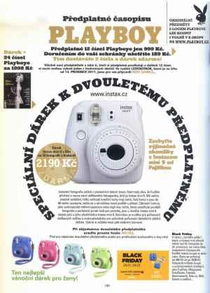 Fotoaparát INSTAX - dárek k předplatnému časopisu Playboy