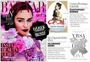 Dvě knihy - dárek k předplatnému časopisu Harper´s Bazaar - midi