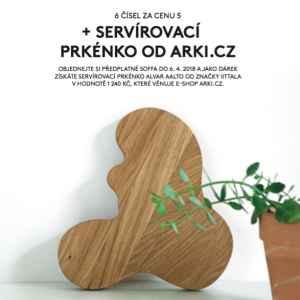Servírovací prkénko - dárek k předplatnému časopisu SOFFA Česky