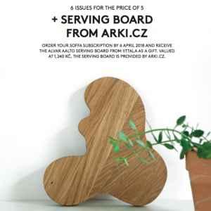Serving board - dárek k předplatnému časopisu SOFFA in English