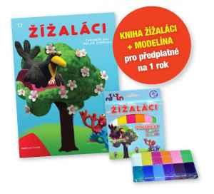Kniha Žížaláci+modelína - dárek k předplatnému časopisu Pastelka