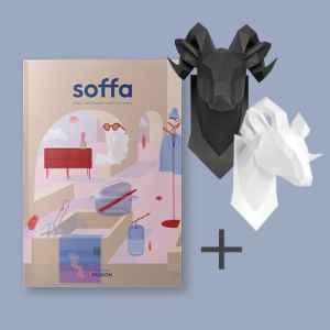 Papírová hlava berana - dárek k předplatnému časopisu SOFFA Česky