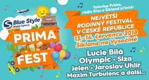2x vstup BLUE STYLE PRIMA FEST - dárek k předplatnému časopisu Prima FRESH