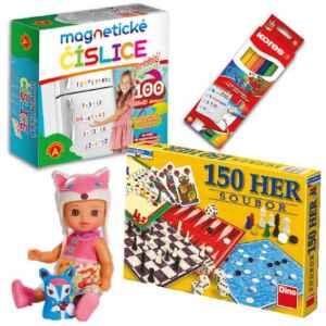 Hra+čísl.+panenka+pastelky - dárek k předplatnému časopisu DRÁČEK
