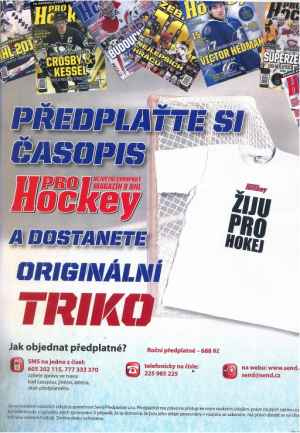 Triko Žiju Pro Hockey - dárek k předplatnému časopisu ProHockey