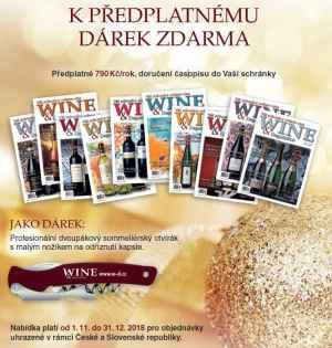 Sommeliérský otvírák - dárek k předplatnému časopisu Wine & Degustation
