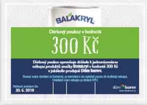Poukaz Balakryl - dárek k předplatnému časopisu Udělej si sám