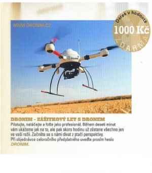 Zážitkový let s dronem - dárek k předplatnému časopisu Playboy