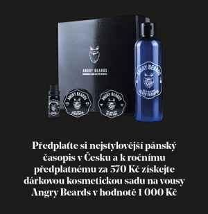 Dárková sada Angry Beards - dárek k předplatnému časopisu Muži v Česku