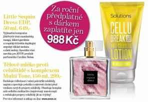 Předplatné 12 měsíců s dárkem zvýhodněné předplatné+parfém a tělové mléko Avon - dárek k předplatnému časopisu Vlasta