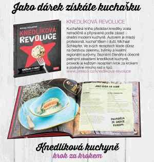 Předplatné 12 měsíců s dárkem roční předplatné+kuchařka Knedlíková revoluce - dárek k předplatnému časopisu Gurmet