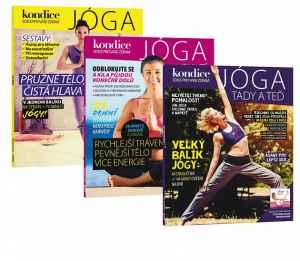 Předplatné 12 měsíců s dárkem zvýhodněné roční + tři populární Jóga Speciály - dárek k předplatnému časopisu Kondice