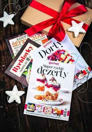Předplatné 12 měsíců s dárkem roční předplatné+dárk.balení speciálů Gurmet+čaj - dárek k předplatnému časopisu Gurmet