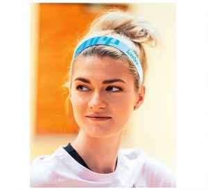 Předplatné 12 měsíců s dárkem roční předplatné + sportovní čelenka Stylová modrá - dárek k předplatnému časopisu Kondice