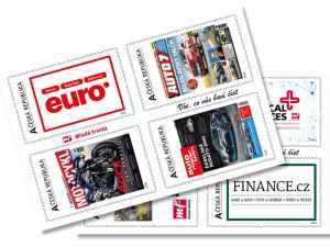 Známky Mladá fronta - dárek k předplatnému časopisu EURO