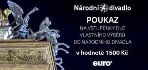 Poukaz do Národního divadla - dárek k předplatnému časopisu EURO