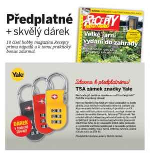 TSA zámek YALE - dárek k předplatnému časopisu Recepty prima nápadů